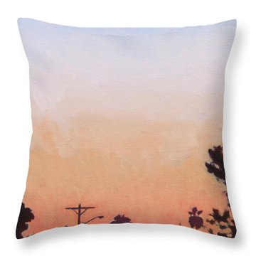 Tonal Hollywood Throw Pillow