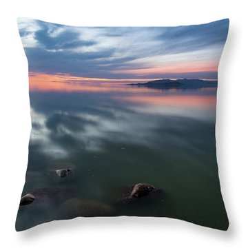 Tonal Sunset Throw Pillow by Justin Johnson