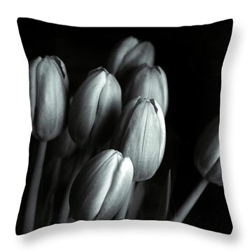 Throw Pillow featuring the photograph Tonal Tulips by Jessica Jenney