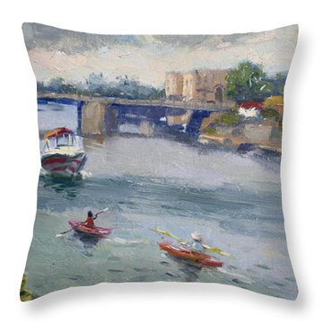 Tonawandas Gateway Harbor Throw Pillow