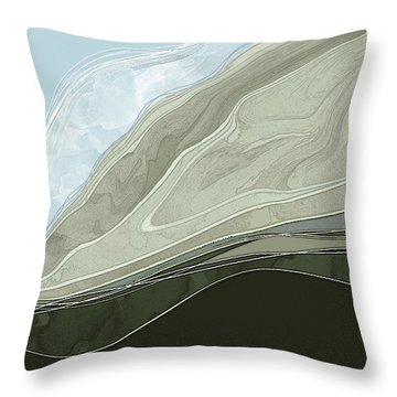 Throw Pillow featuring the digital art Tone Poem by Gina Harrison