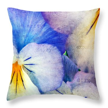 Tones Of Blue Throw Pillow