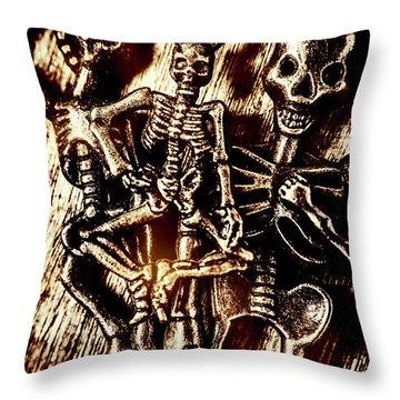 Tones Of Halloween Horror Throw Pillow