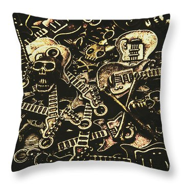 Tones Of Hard Rock Throw Pillow