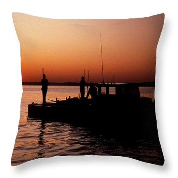 Tonger's Sunrise Throw Pillow by Skip Willits