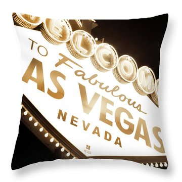 Tonight In Vegas Throw Pillow