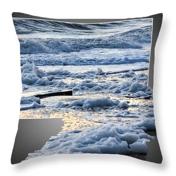 Too Big For The Frame Throw Pillow by Allan Levin