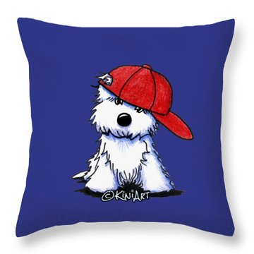 Too Cool For School Throw Pillow