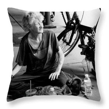 Too Much Homelessness Throw Pillow by Monte Stevens