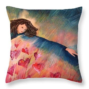Too Much Love To Contain Throw Pillow