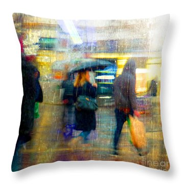 Too Warm To Snow Throw Pillow