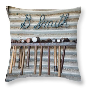 Throw Pillow featuring the photograph Tools Of The Trade by Linda Lees