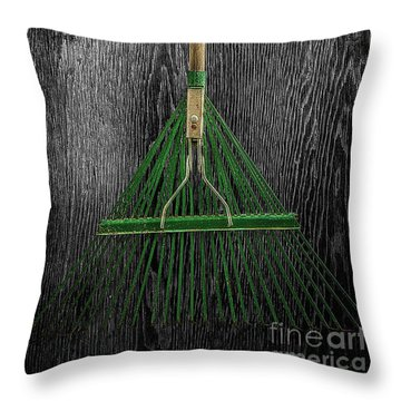 Tools On Wood 10 On Bw Throw Pillow by YoPedro