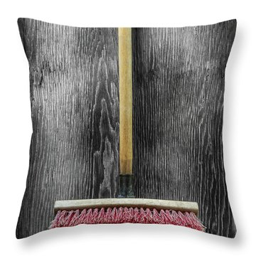 Tools On Wood 14 On Bw Throw Pillow by YoPedro