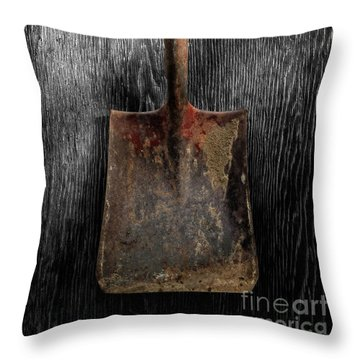 Tools On Wood 4 On Bw Throw Pillow by YoPedro