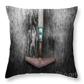 Tools On Wood 5 On Bw Throw Pillow by YoPedro