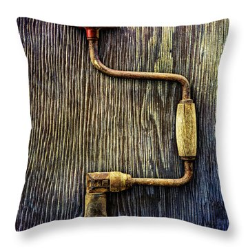 Tools On Wood 58 Throw Pillow