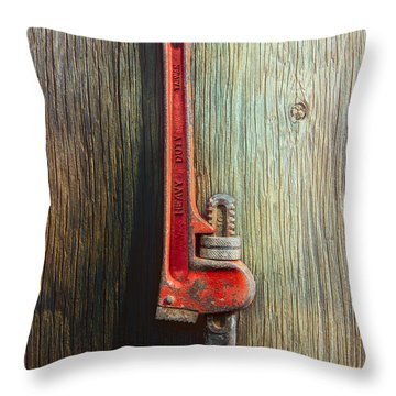 Tools On Wood 70 Throw Pillow