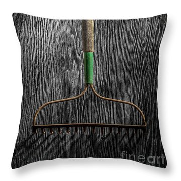 Tools On Wood 8 On Bw Throw Pillow by YoPedro