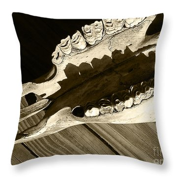 Tooth Decay Throw Pillow