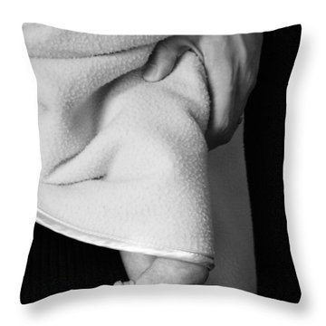 Tootsies Throw Pillow by Angela Rath
