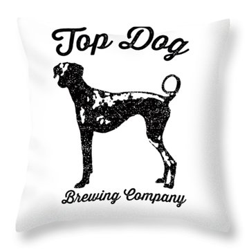 Top Dog Brewing Company Tee Throw Pillow