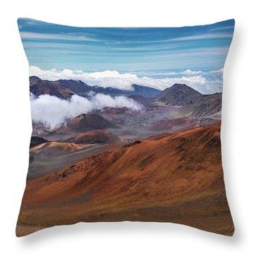 Top Of Haleakala Crater Throw Pillow