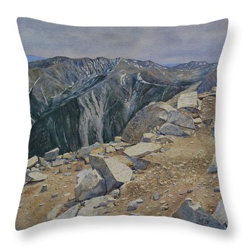 Top Of Mt. Princeton Throw Pillow