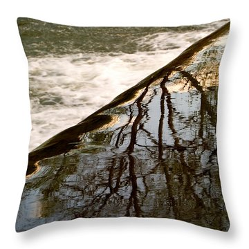 Top Of The Falls Throw Pillow