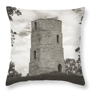 Throw Pillow featuring the photograph Top Of The Hill by Viviana  Nadowski