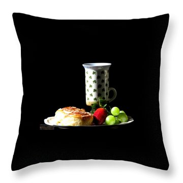 Top Of The Morning Throw Pillow by Angela Davies