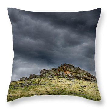 Top Of The Mountain Throw Pillow