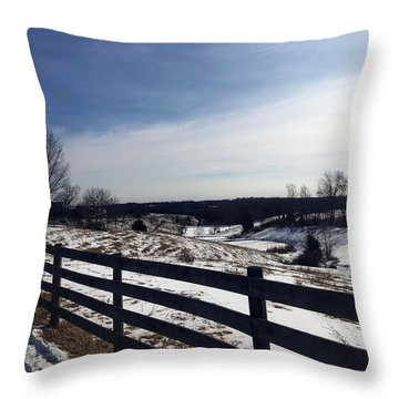 Top Of The Ridge  Throw Pillow