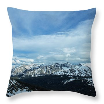 Throw Pillow featuring the photograph Top Of The Rockies by Tyson Kinnison