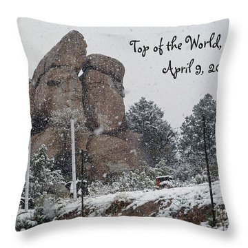 Top Of The World Arizona Throw Pillow by Methune Hively