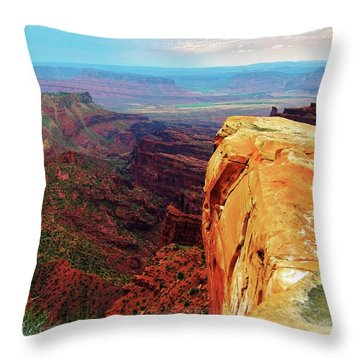 Throw Pillow featuring the digital art Top Of The World by Gary Baird