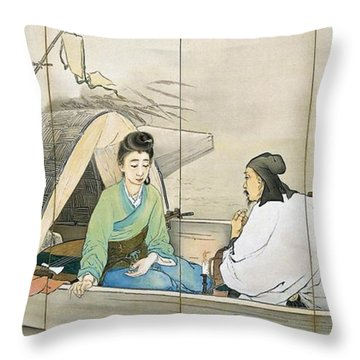 Top Quality Art - Song Of The Lute #1 Throw Pillow