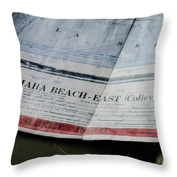 Top Secret - Omaha Beach Throw Pillow