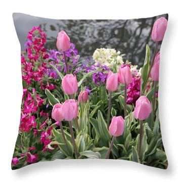 Top View Planter Throw Pillow