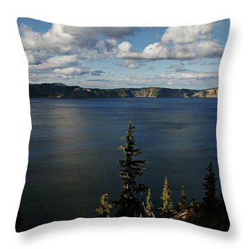 Top Wow Spot - Crater Lake In Crater Lake National Park Oregon Throw Pillow by Christine Till