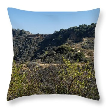 Topanga Canyon Trail Throw Pillow