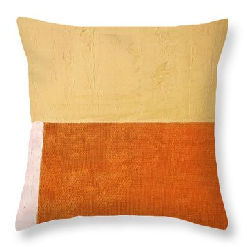 Topaz Pink Orange Throw Pillow