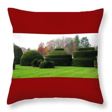 Topiary Garden Throw Pillow by Angela Davies