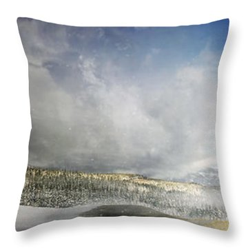 Topic Of Duality Winter-summer Throw Pillow