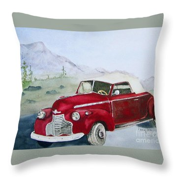 Topless 1940 Chevy Throw Pillow