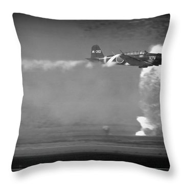 Tora, Tora, Tora At The Reno Air Races Throw Pillow