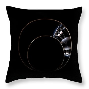 Torc Throw Pillow by Lea Wiggins