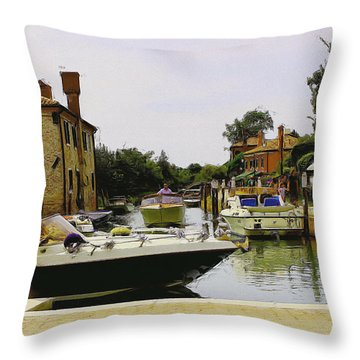 Throw Pillow featuring the photograph Torcello Island by Cendrine Marrouat