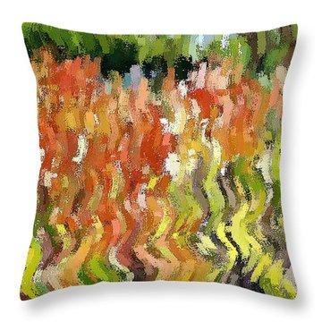 Torch Lilies Throw Pillow
