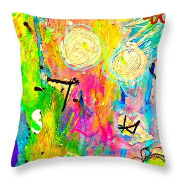 Tori And Me 2 Throw Pillow by Shelley Graham Turner